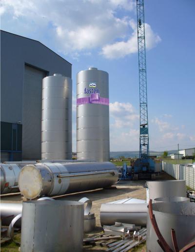 Beschriftung-Wassertank-Silo