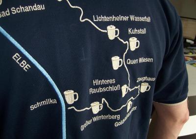 490_Landkarte Route Wanderung sticken