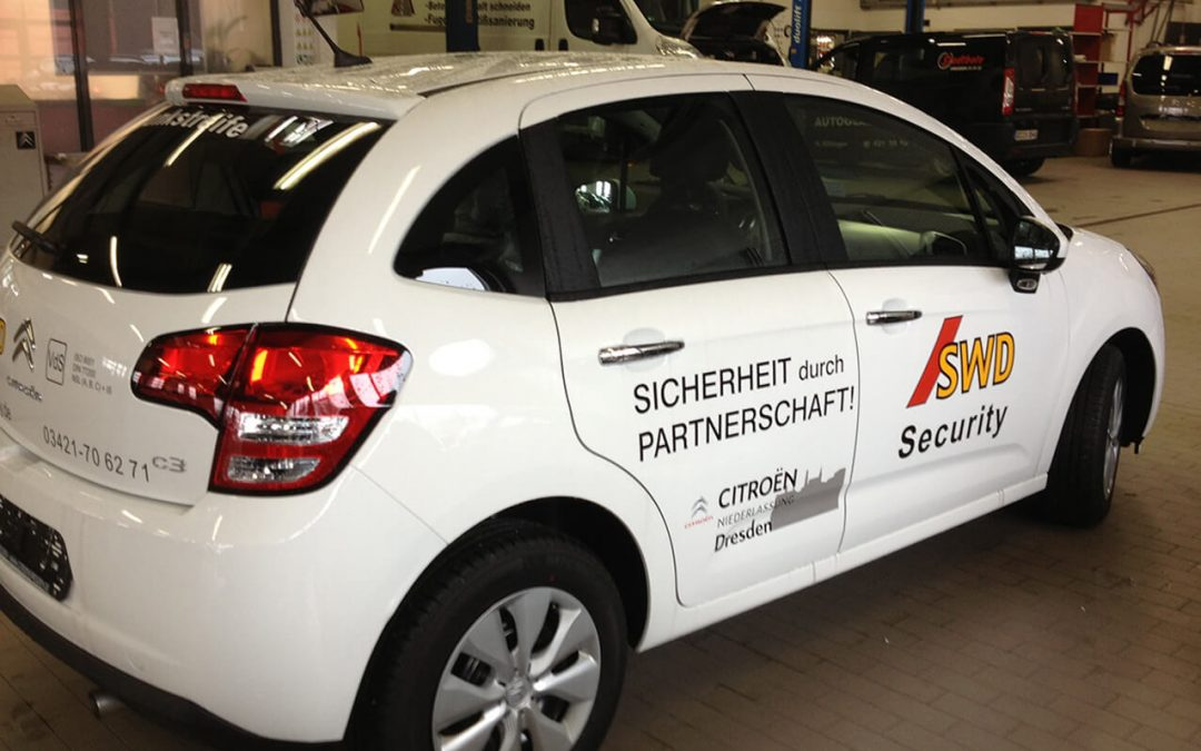 Beschriftung Fahrzeugbeschriftung Autowerbung SWD Dresden