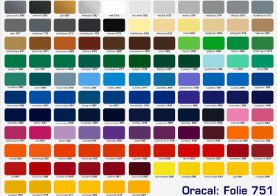 Farbkarte 751 Oracal