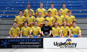Unihockey Igels Dresden eV Beschriftung Sponsoring Werbung