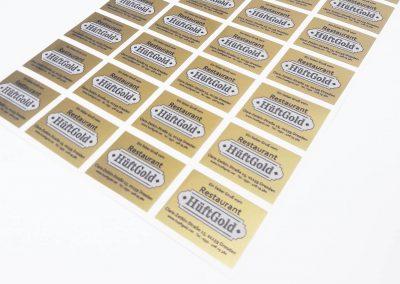 232-Aufkleber-Etikett-Gold