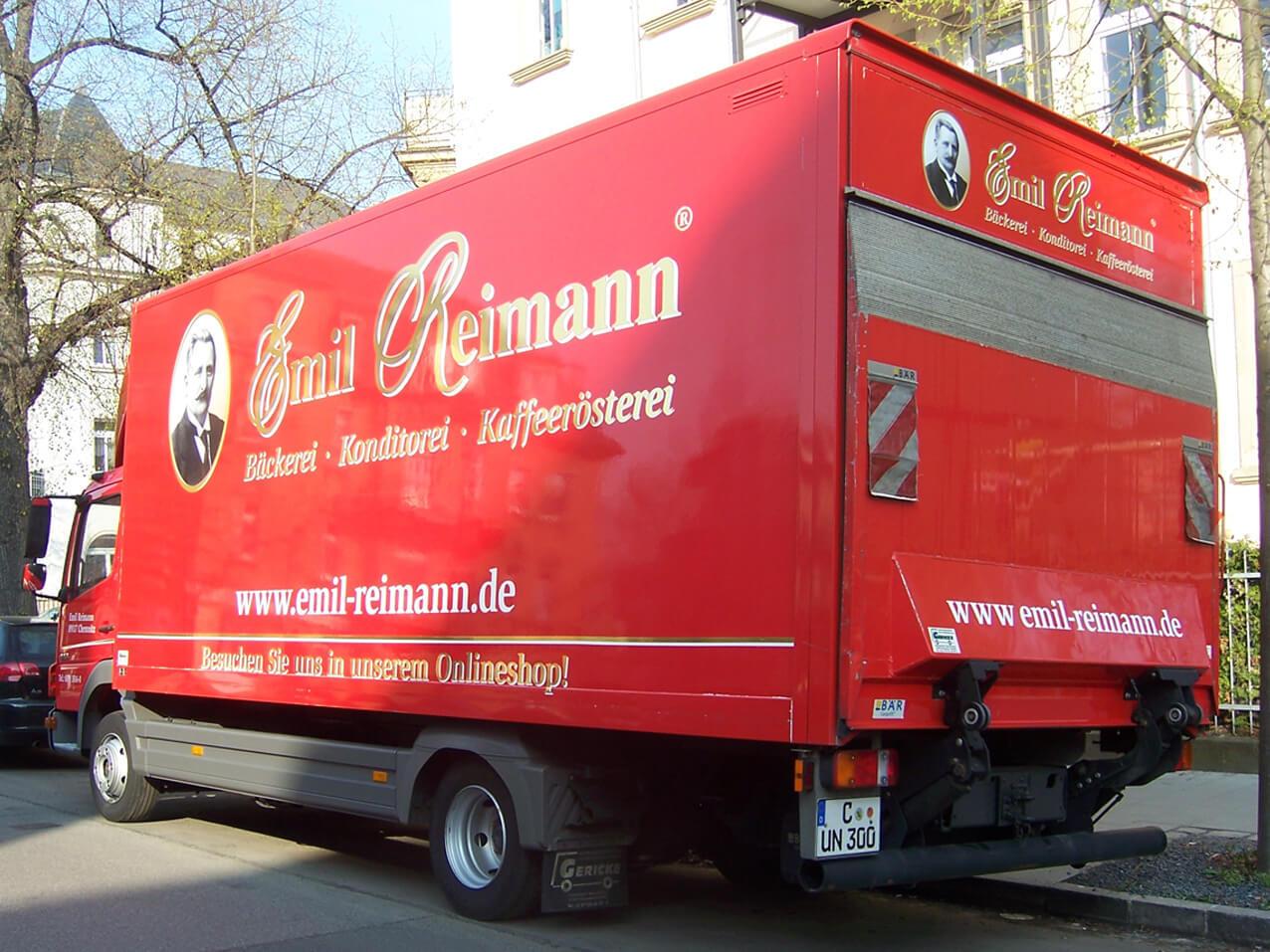 457-Emil Reimann LKW Beschriftung