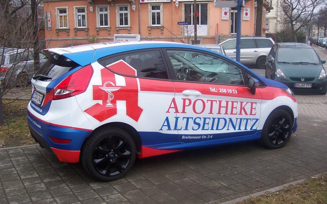 Autofolierung – TOPLAC und Apotheke-Altseidnitz