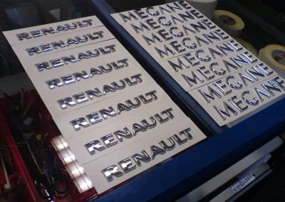 3d Sticker - einzel Buchstaben-Monogramm-Chrombuchstaben