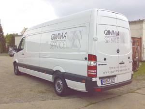Gamma-Service-Transporter-Sprinter Beschriftung