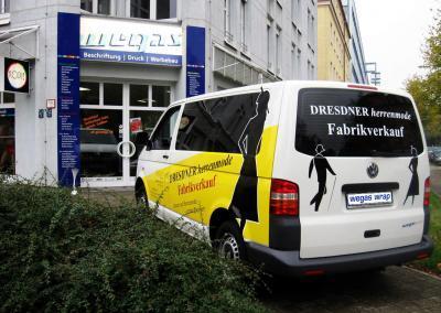 264-Werbeagentur Dresden-Herrenmode-VW T5-beschriftung