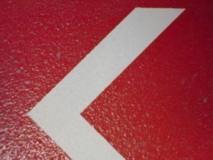 315-1-Schablonentechnik Boden Fahrbahn
