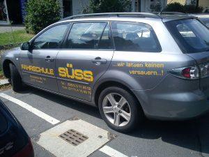 Fahrzeugbeschriftung Fahrschule-Suess-Dresden