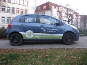 Logopaedie-Schlegel-Fahrzeugbeschriftung