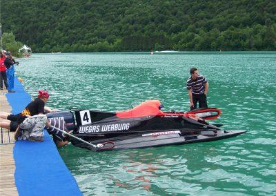 370-Beschriftung Marlin Boot-Flyer Sponsoring Werbung