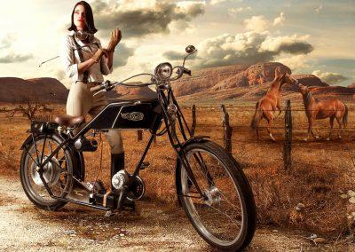 377-3-D Aufkleber Motorrad