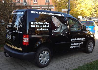 Beschriftung VW T5 Fahrzeugbeschriftung Autowerbung Dresden