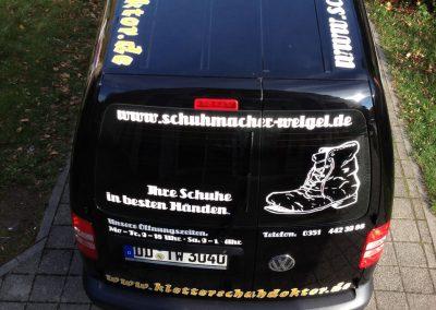 Beschriftung VW T5 Fahrzeugbeschriftung Autowerbung Dach Dresden