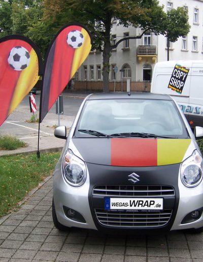429-Autofolie Matt Design Deutschland Fahne Flagge
