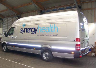 449-Mercedes Sprinter Synergy Health Flottenbeschriftung