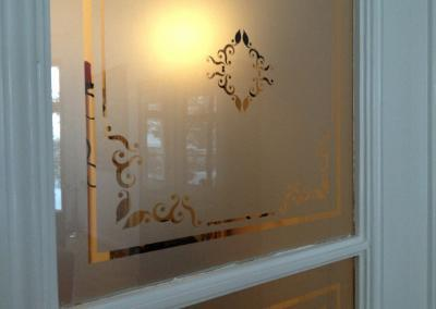 465-Glasdekor Tür Ornamente Jugend Stil