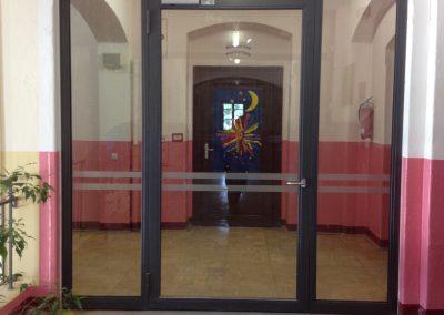 476-Durchlaufschutz Tuer Schule Dresden