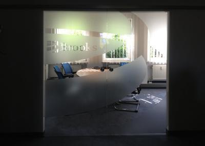 476-Sichtschutz Glasdekor Muster Empfang