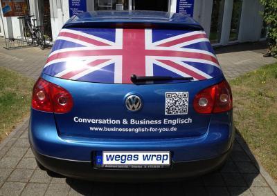 482-Car British Flag-Heckscheibe