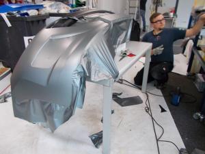489-carwrapping autofolie matt spoiler kleben dresden
