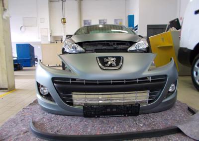 489-carwrapping autofolie spoiler grau matt