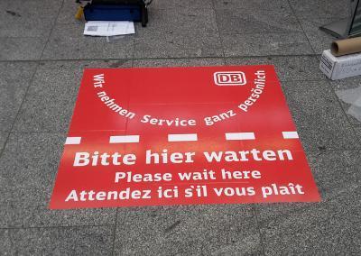 502-Fussbodenaufkleber DB Hauptbahnhof Dresden