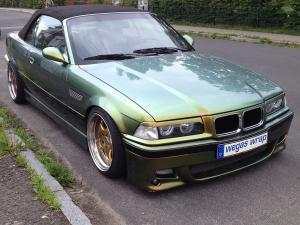503-Autofolie Flip Flop gruen gold Car Wrapping Dresden-kleben