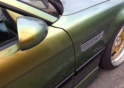 503-Flip Flop gruen gelb Autofolie Car Wrapping Spiegel