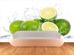 504-Fototapete-Wall-Art-Tapete-Aufkleber-Wandbild-Limette-Zitrone-drucken