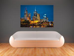 504-Fototapete-Wall-Art-Tapete-Aufkleber-Wandbild-Stadt-Skyline-nachts-drucken