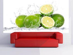 504-Fototapete-Wall-Art-Tapete-Aufkleber-Wandbild-Zitrone-drucken-Wohnzimmer-Küche