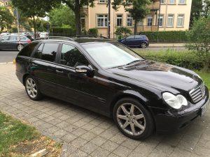 591-Autoscheibenfolierung-Dresden-Mercedes-Schwarz-Mittel