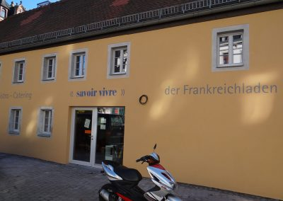 Frankreichladen Dresden Fassadenbeschriftung