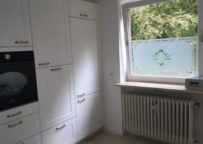 Glasdekor Klebefolie Jugenstil Kueche Fenster