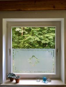 Glasdekor Klebefolie Jugenstil Wohnung Fenster