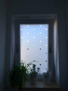 Glasdekor Klebefolie Punkte Wohnung Tuer Fenster