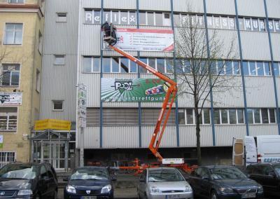 505_Bannermontage Billardtreffpunkt Pool Reflex Fitnessclub Dresden