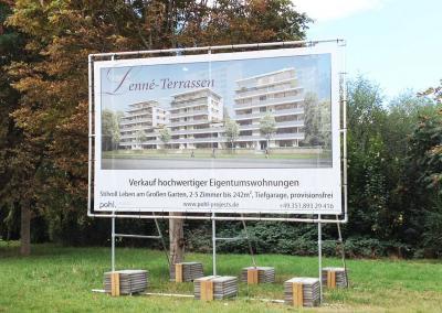531_Bauschild Dresden Aufsteller Plane