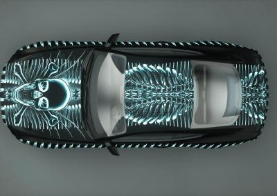 Auto-Car-Tuning-x-ray bone cage-Foliendruck