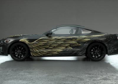 Auto-Design-dark wings gold side