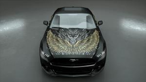 Autodesign-dark wings gold