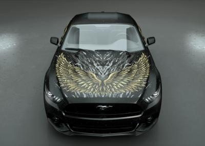 Autodesign-dark wings gold