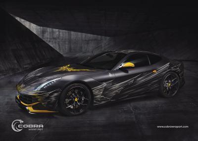 Autofolie-Motivdruck-Ferrari-f12