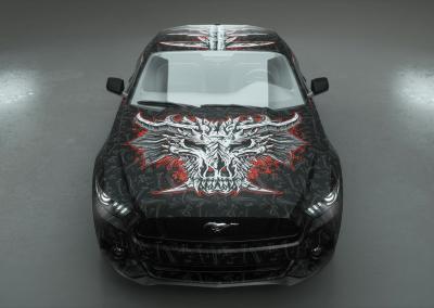 Autofolie Motivdruck-bone dragon