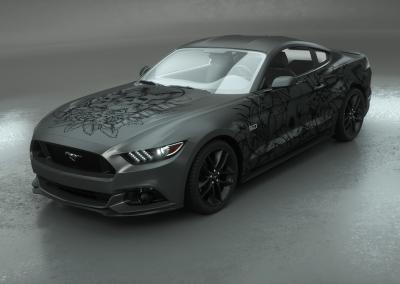 Carwrapping-Autofolie-Eule-Tod-Totenkopf-graphite-grau