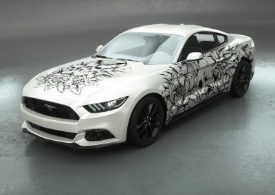 Carwrapping-Autofolie-Eule-Tod-Totenkopf-white-weiss