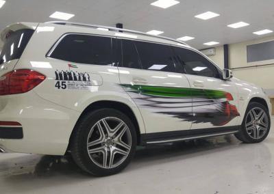 Carwrapping-Autofolie-UAE Falcon Mercedes