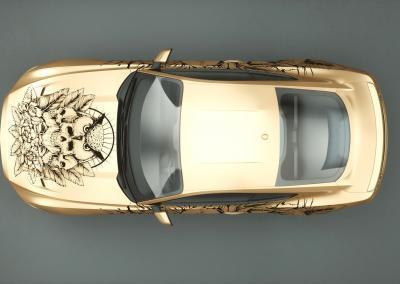 Carwrapping-Autofolie-gold-drucken