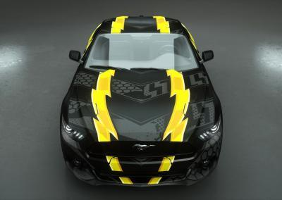 Carwrapping-black and yellow
